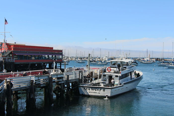 City Clear Sky Day Harbor Mode Of Transport Monterey Moored Nautical Vessel No People Outdoors Sky Tourboat Transportation Travel Destinations Water