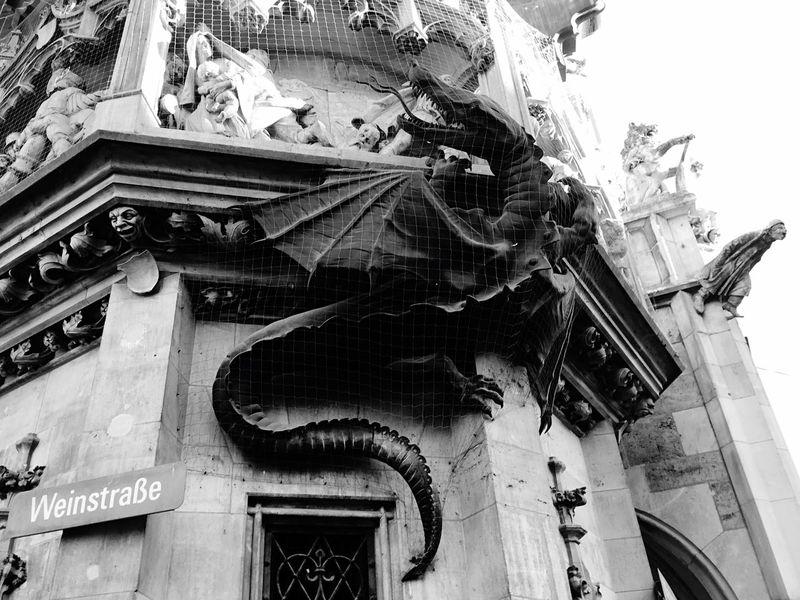 Weinstraße Dragon Munich Neogothic December Holiday Winter
