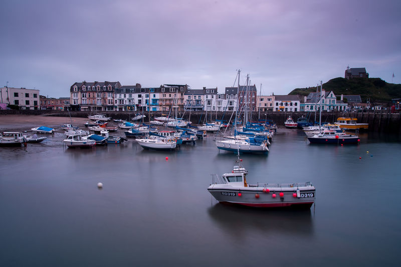 Devon Building Exterior Built Structure Cloud - Sky Dawn Dusk Harbor Ilfracombe Harbour Marina Mode Of Transportation Moored Nature Nautical Vessel No People Outdoors Passenger Craft Reflection Sailboat Sea Sky Transportation Uk Water Waterfront Yacht