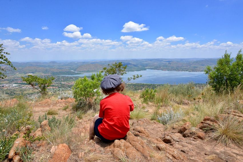 Harties Hartebeespoort Mountain Rear View Nature Tranquil Scene Beauty In Nature Real People Scenics Water Day Tranquility Sky Sitting Outdoors One Person Leisure Activity Sea Lifestyles Horizon Over Water Women People South Africa Hartbeespoort Dam Wall Hartbeespoort Dam