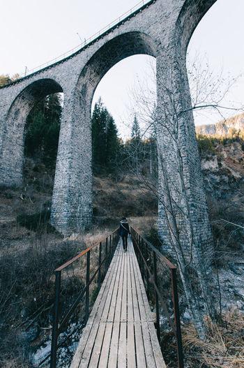 Bridge Close-up Day Filissur Forest Graubünden Landwasser Viadukt  Mood Moody Moodyshot Mountains Nature Nature No People Outdoors Sky Swimming Swiss Switzerland Trainbridge Tree Tree