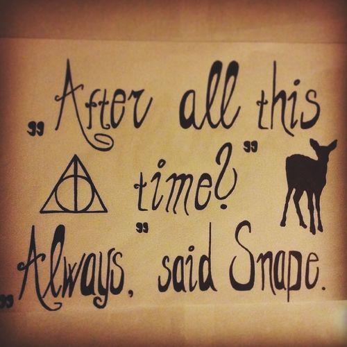 /* Harrypotter Alanrickman Severus Snape INeverForgetyou First Eyeem Photo