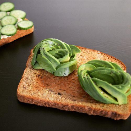 Avocado Flower Toast Breakfast with Chia Seeds Vegetarian Food First Eyeem Photo