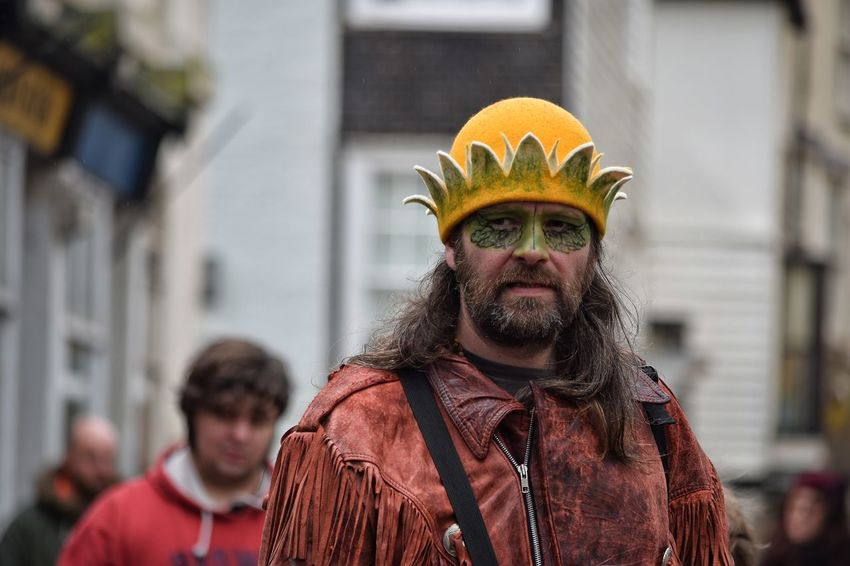 Jack In The Green Festival Jack In The Green East Sussex Hastings May Day 2017 May Day Only Men Mid Adult Mid Adult Men Adults Only Focus On Foreground Real People King - Royal Person Pagan Lifestyles Pagan Festival Face Paint Performance Traditional Festival Green Color Tradition Cultures Arts Culture And Entertainment One Person Headwear