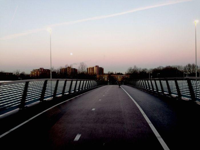City Bridge Sunset Urban