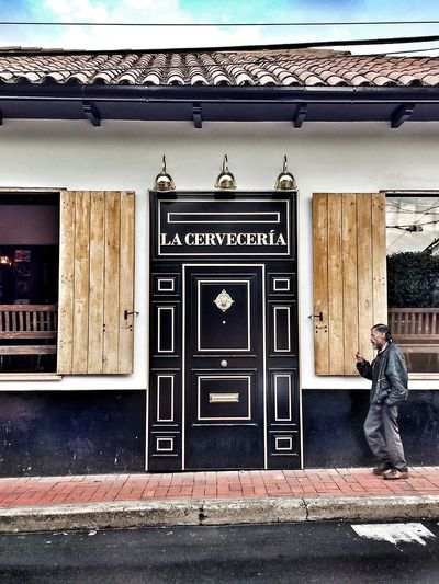 Outdoors Person One Person Adult People Building Exterior Architecture Real People Social Issues Brewery Usaquen Bogotá Colombia