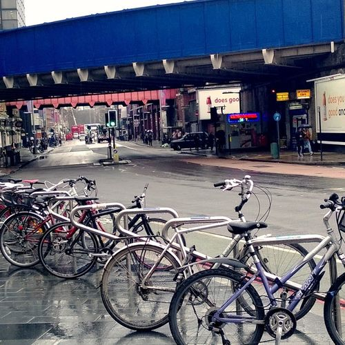 Waterloo station Photowalktheworld EyeEm Selects The Architect - 2018 EyeEm Awards City Bicycle Store Architecture Building Exterior Built Structure Sky Parking Bicycle Rack Parking Sign Cycling Bicycle Basket Scooter Mode Of Transport Handlebar Parking Garage