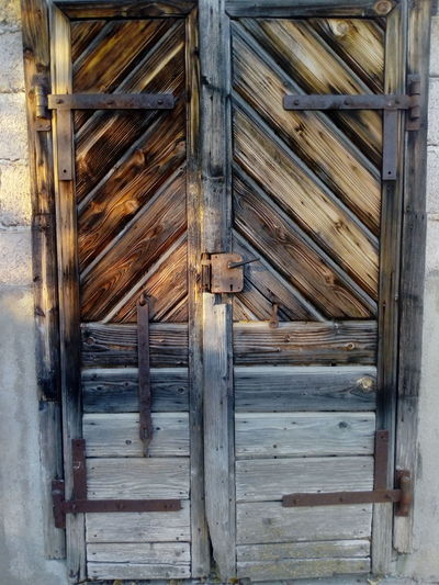 Architecture Backgrounds Built Structure Close-up Closed Day Door Doorway Full Frame No People Outdoors Pattern Protection Safety Security Textured  Wood - Material