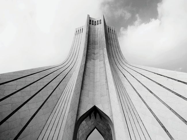 Azadi Tower In Tehran Azadi Square Azaditower Architecture Architecture_bw Black And White Photography EE_Daily: Black And White EyeEm Best Shots - Black + White Black And White Collection  The Architect - 2016 EyeEm Awards Colors And Patterns Monochrome Photography