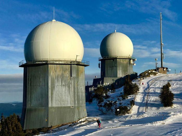 Radar station Radar Control Radar Tower Radar Station Sky Dome Architecture Building Exterior Nature Built Structure Day Outdoors Clear Sky