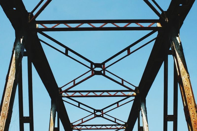 Bridge Bridge - Man Made Structure Train Tracks Train Bridge Village Sky Clear Sky First Eyeem Photo