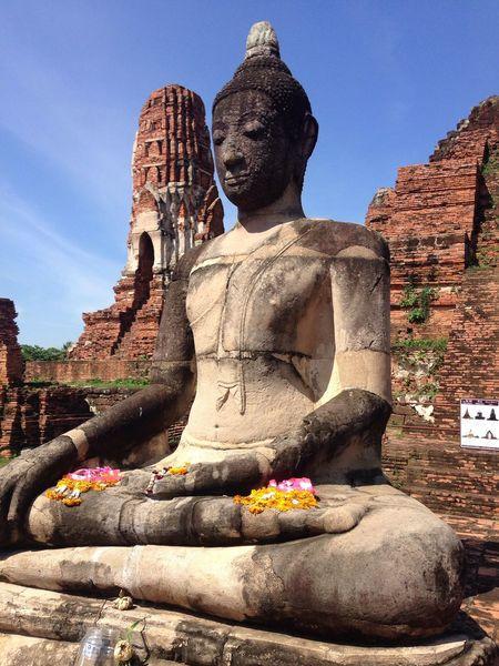 Bangkok Thailand. ThaiTemple วัดมหาธาตุ Buddha Statue Human Representation Belief Sky Nature Creativity