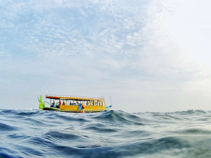 Nautical Vessel Dhau Water Sea Sky Outdoors Cloud - Sky Vacations Malediven  Irufushimaldives Irufushi Indischer Ozean Indian Ocean Dive Diveeverydaylife Boat