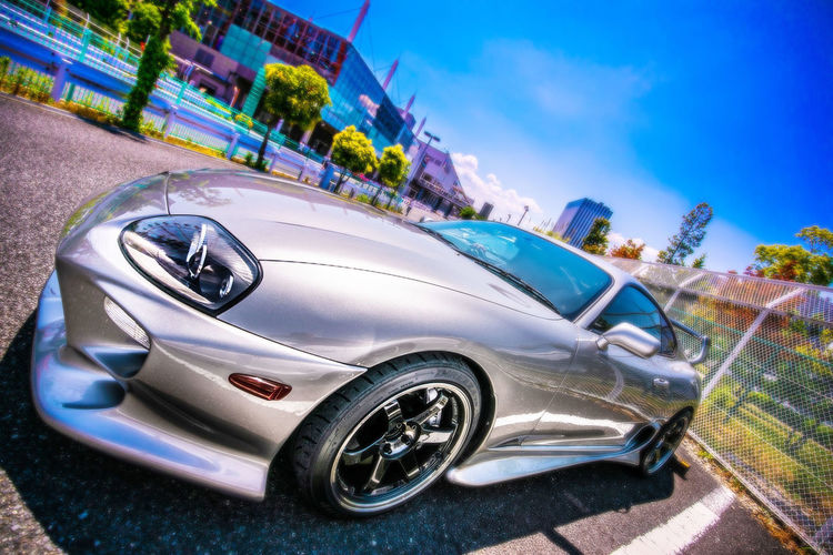 夏色スープラ Mode Of Transportation Car Transportation Motor Vehicle Land Vehicle Vintage Car Day Sky Architecture Road Tilt Nature Convertible Focus On Foreground Luxury Incidental People Travel Blue Stationary Outdoors