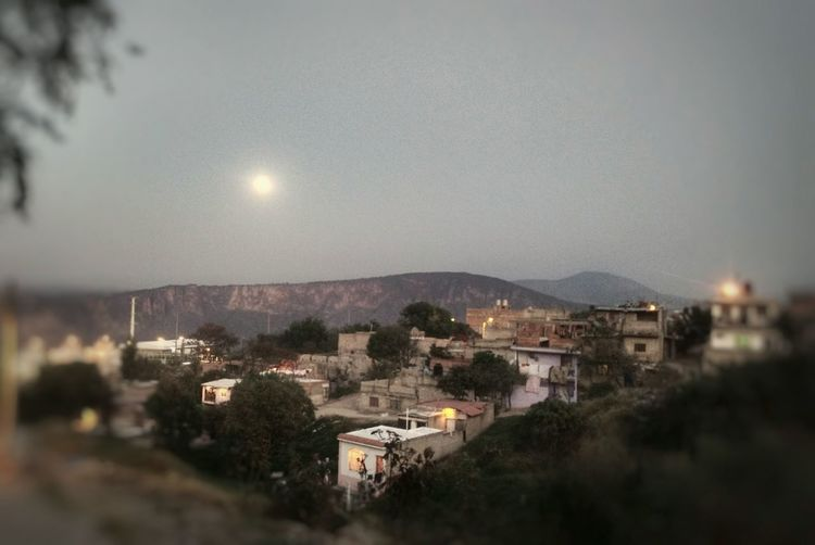 Sky Full Moon Illuminated Night No People Tree Moon Social Issues City Outdoors Architecture Nature Atardecer Photo Taken With My Smartphone Quietude Quiet Place  Barranca De Huentitán Zapopan Jalisco ,Mx
