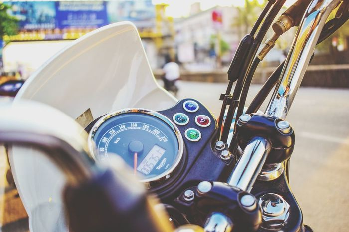 EyeEm Selects Triumph Motorcycle Triumph Bonneville Bikers Brotherhood Mc Photooftheday Automotive Photography Bikeporn Triumphbonneville Triumphmotorcycles Outdoors Day Close-up Time Clock No People City Crash Helmet One Man Only Real People Gear Riders Jacket EyeEmNewHere Postcode Postcards