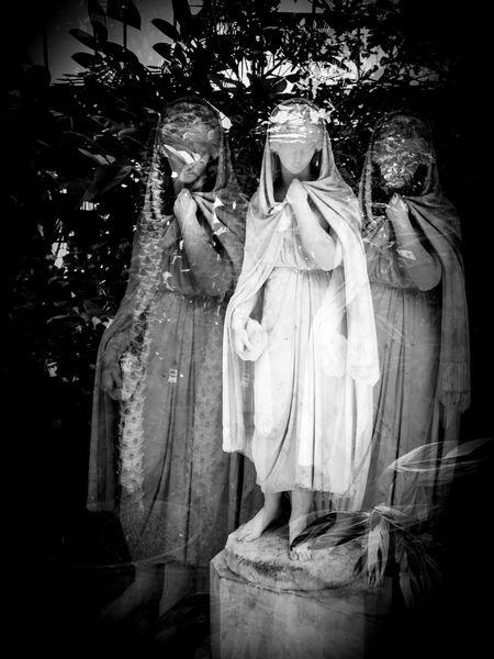In camera double exposure, Sefton Park, Liverpool, England Double Exposure Liverpool Liverpool England PalmHouse Statue Childhood Doubleexposure Girls Night Outdoors People Sefton Park Statues Tree Triple Exposure