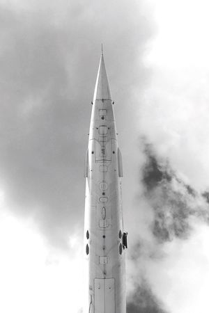 Ready dir take off? Sky Low Angle View Outdoors No People Rakete Rocket Architecture Cloud - Sky Day Concorde Airplane