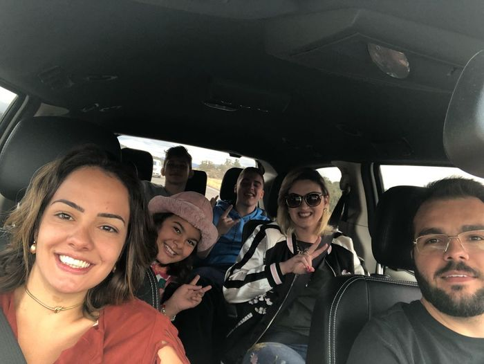 Family Matters Family Time Family❤ Family Mode Of Transportation Transportation Vehicle Interior Car Motor Vehicle Real People Lifestyles Portrait Travel Glasses Car Interior Group Of People Looking At Camera Land Vehicle People Sunglasses Sitting