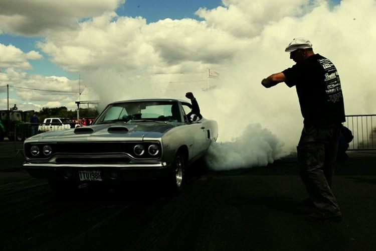Mopar Burnout. The longest tyre burnout at the Mopar Nstionals at Santa Pod Raceway. Taking Photos V8 Small Block Big Block Burnout Automotive Racing Car Documentary Reportage From My Point Of View Chrysler smokin' smoke track