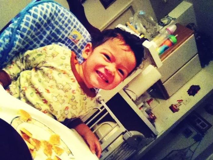 My Brother Eating Breakfast :)