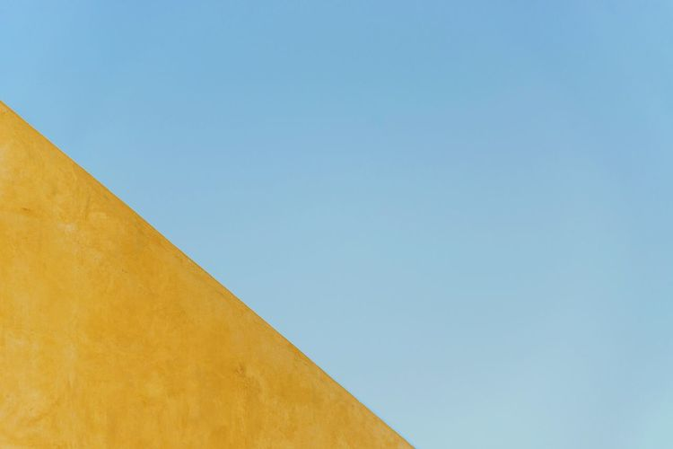 The Architect - 2017 EyeEm Awards Architecture Outdoors Summer Day No People Backgrounds Clear Sky Sky Concrete Wall Flat Design Modernarchitecture Old Places Jantar Mantar, Delhi