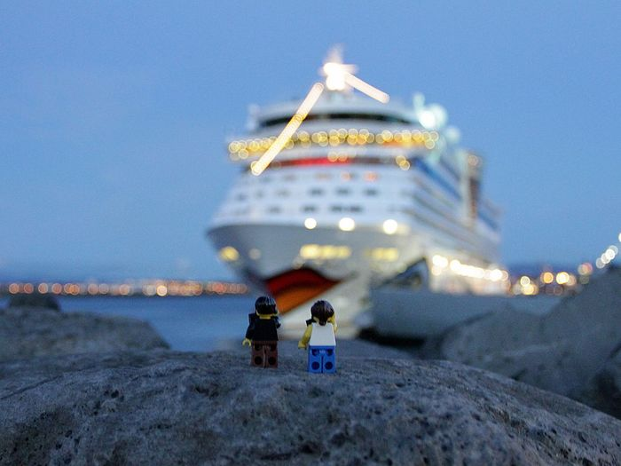 Aida Cruise Ship LEGO Lego Time! Aida Diva Aidacruises Architecture Building Exterior Built Structure Clear Sky Cruising Day Island Lego Minifigures Legominifigures Legophotography Nature No People Outdoors Place Of Worship Sea Sky Water Connected By Travel Lost In The Landscape
