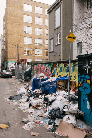Architecture Building Exterior Built Structure City Day Garbage No People Outdoors Queen West Toronto