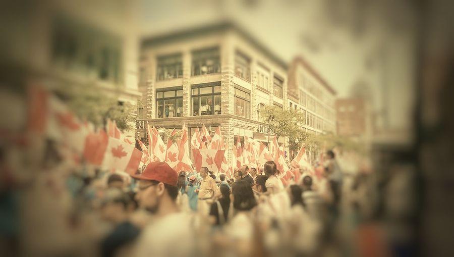 Canada Day 2016 Canada, Eh? Selective Focus Canada Flag Canada Day Montreal
