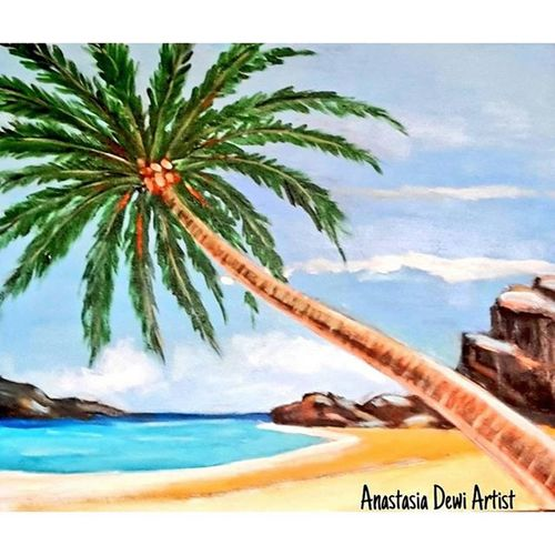 Mood on My Favorite Place Beach so Peaceful & Quiet 😊🌊🌴🌞🎵🎶 Art ArtWork Artist Artists Painting Painter Paint Nature Natural Contemporary Contemporaryart WorkOfArt Followart Artlovers Artlover Artlove Acrylic Acrylicpainting  Phuket Phuketbeach Thailand Color Colors Instaart instaartist forsale