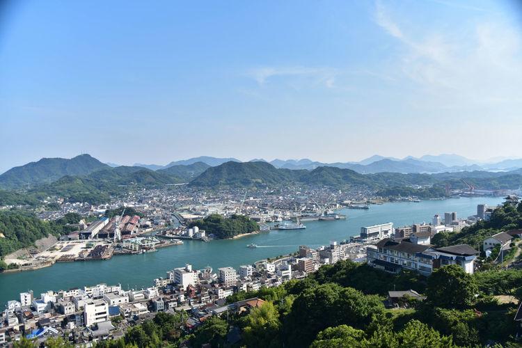 Bay City Cityscape Hiroshima,japan Hiroshima onomichi Onomichi, Japan Sea