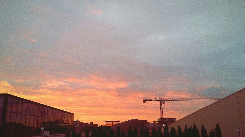 Sunset Built Structure Architecture Building Exterior No People Silhouette Outdoors Sky City Nature Technology Day