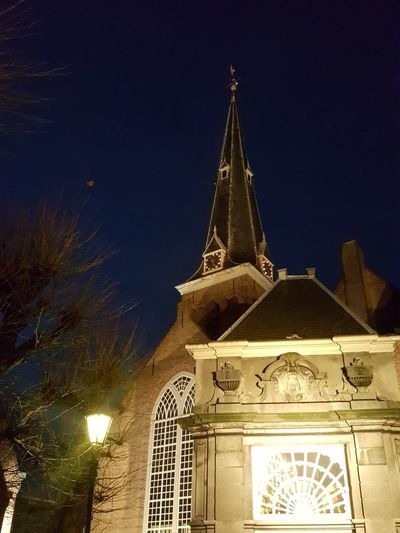 Architecture Night Low Angle View Illuminated No People Church Building Exterior Eyeem Market Outdoors Sky Christmas Is Coming EyeEm Team EyeEm Selects Holland❤ Winter E EyeEm Selects Holland❤ Winter