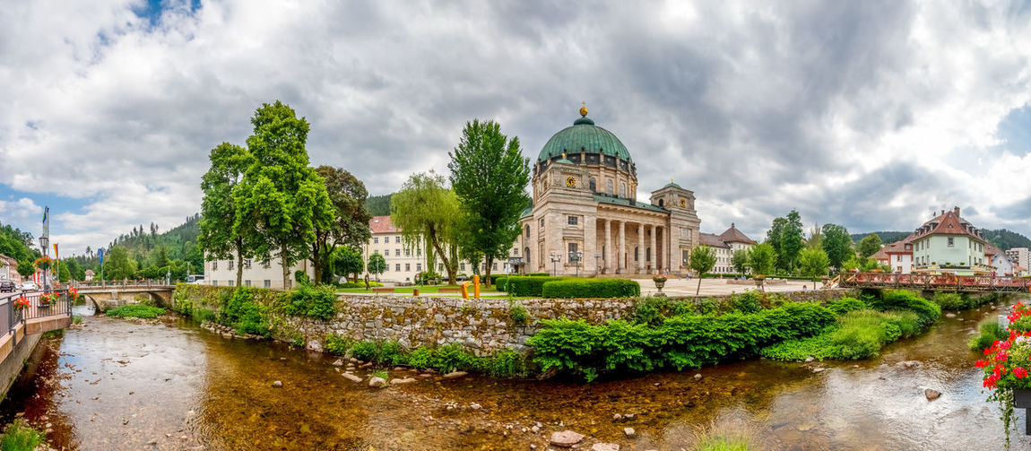 Abbey Saint Blasien, Germany Sankt Blasien Cathedral Dome Church St. Blasien Black Forest Religion Panorama Germany Historical Abbey Monastery City Village Cityscape