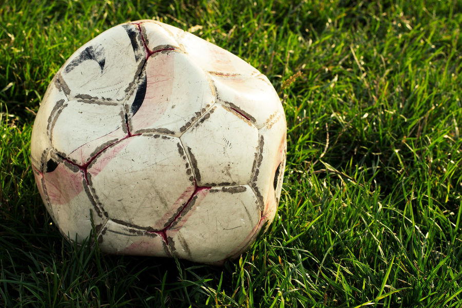 Ball Childhood Childhood Memories Football Free Time Freedom Grass Kids Laisure Sunny