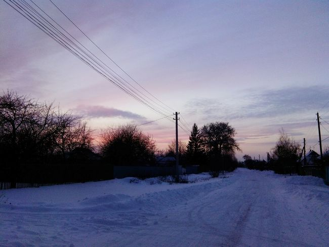 Sunset Sky Power Line  Cable Electricity  Cloud - Sky No People Outdoors Beauty In Nature Cold Temperature