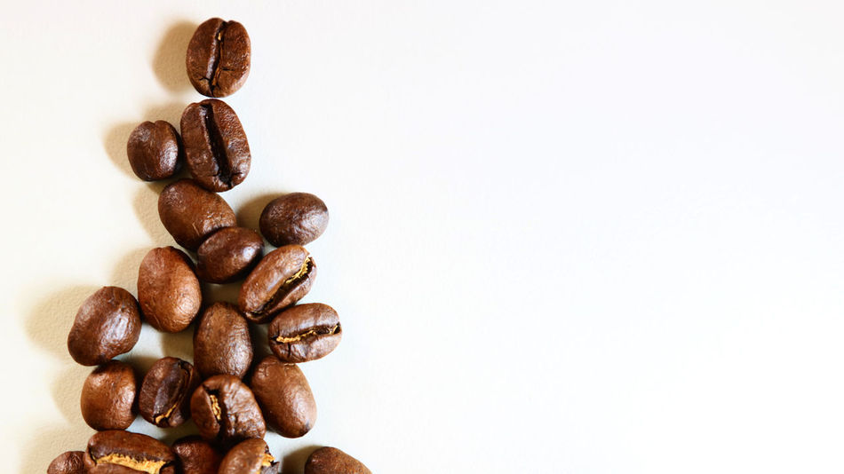 The Christmas Coffee Bean Brown Close-up Coffee - Drink Coffee Bean Food Food And Drink Freshness Indoors  No People Raw Coffee Bean Roasted Coffee Bean Still Life Studio Shot White Background