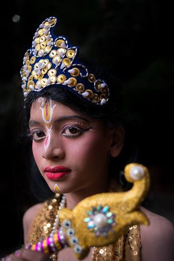 EyeEm Selects krishna in the occasion of Krishna Janmastami Beauty Portrait Young Adult Beautiful People Fashion One Person Gold Colored Make-up Adult Headshot Only Women Looking At Camera Statue Glamour Close-up Religion Hinduism Festival Festival Season Krishna Janmashtami Nikon Nikonphotography Nikon D800E