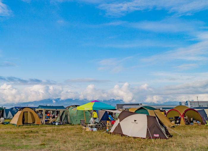 Ishikari Japan Morning Sunny Festival Rsr Sky Summer Tent
