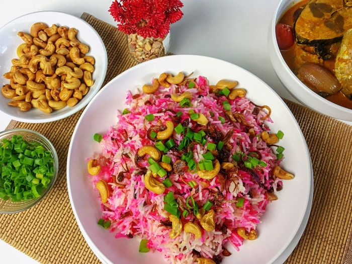 Malay Food Asian Foods Cafe Hotel Food Styling Fish Curry Reataurant Rice Food And Drink Food Plate Freshness Ready-to-eat Bowl Table Serving Size High Angle View Healthy Eating Variation