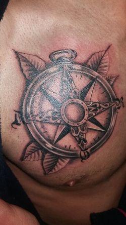 Tattoo Compass Guiding