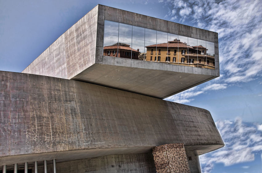 Architecture Blue Building Exterior Building Story Built Structure City Cloud - Sky Day High Section Low Angle View Maxxi Museum MAXXI Roma No People Outdoors Rom Moving Around Rome