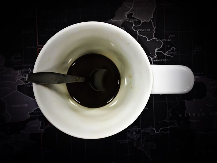 Coffee Indoors  No People Directly Above Crockery Cup Table Saucer Drink