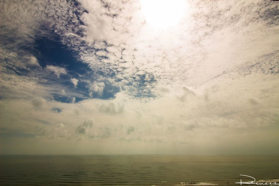 The sky's the limit. Horizon Over Water Scenics Water Sky Nature Waterfront Cloudscape Cloud - Sky Beach Rhemses Photography Photographer Texas Canon Canonphotography Scenery
