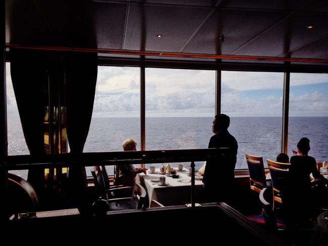 Koduckgirl IPhone5 Sea Window Sitting Table Horizon Over Water Nautical Vessel People Cruise 2013 Cruise Ship Teatime Koduckgirl