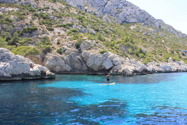 Adult Adventure Beauty In Nature Calanque Day Marseilles Nature One Person Outdoors People Real People Sky Swimming Tree Vacations Water