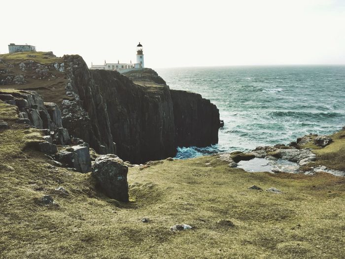 Sea Lighthouse Safety Nature Building Exterior Protection Beauty In Nature Tranquility Architecture Neist Point Skye Scotland Landscape_Collection Picoftheday Feeling Good EyeEm Best Shots Art Is Everywhere Landscape Beauty In Nature EyeEm Selects Lifestyles