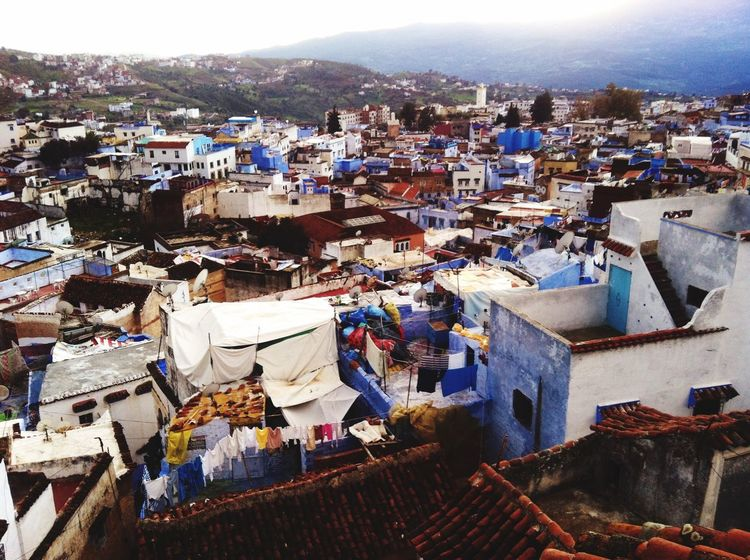 Travel Photography Lovely Place Panoramic Photography Beautiful Town Taking Photos Great View Chefchaouen Morocco Chefchaouen Rif Mountains Blue City