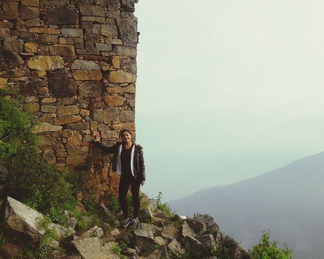 Mountain Adventure Men Full Length Rock - Object Hiking Cliff Sky