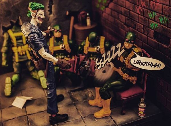 "My latest entry for the Facebook comp, the theme for this round was "" I love hit men no matter what you do to them you don't feel bad"" Unfortunately it wasn't enough to make it through to the next round but I had loads of fun setting up this shot especially painting and tagging the wall 💀 DC Joker Actionpackedplastic Anarchyalliance Ata_dreadnoughts Superdupershots Toysaremydrug Toygroup_alliance Toyslagram Toyleague Toyboners Thefigureverse Toybuddypicks Nogods_justmonsters Epictoyart Toypops2 Toptoyphotos Wheretoysdwell Geekunion Elite_editz Toysphotogram Justanothertoygroup Plasticcrack Realmofcollectors Actionfigureattack capturedplastic weareagelessgeeks"